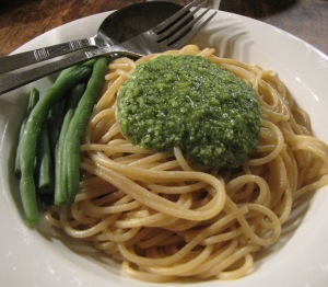 spaghetti o pesto