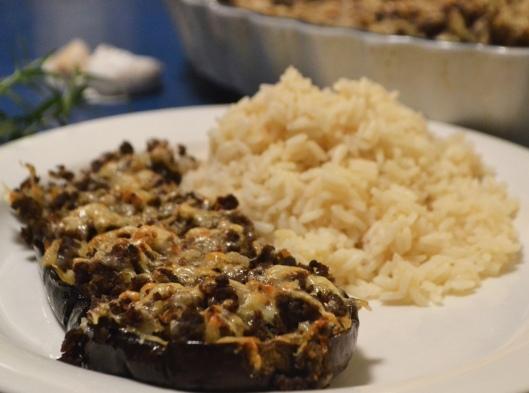 aubergine & rådjursfärs
