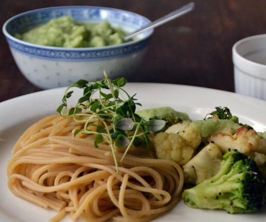 pasta m stekt blomkål o broccoli