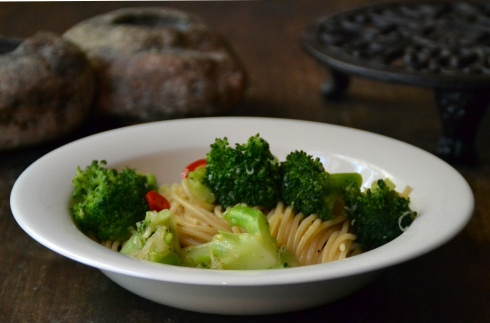 pasta m chiliwokad broccoli