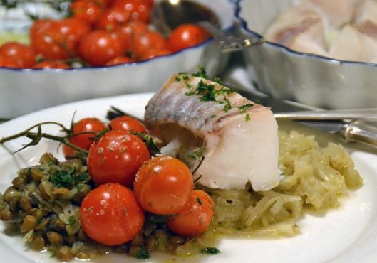 torsk m fänkål tomat o linser