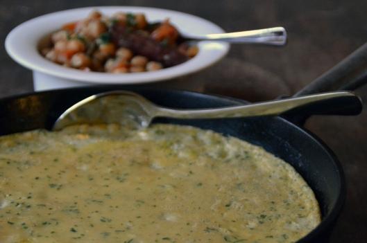 marockansk potatisomelett & kikärtstagine