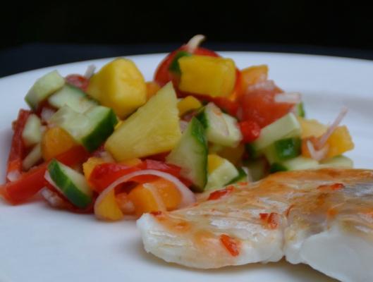 sweet chili-torsk