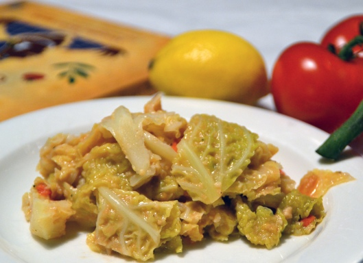 savojkål m jordnötter o tomat
