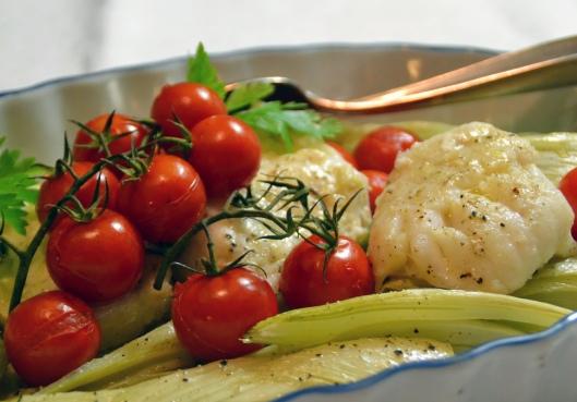 torskrygg m fänkål o tomat